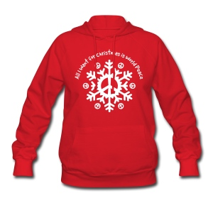 World Peace Snowflake - Women's Hoodie