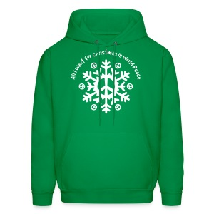 World Peace Snowflake - Men's Hoodie
