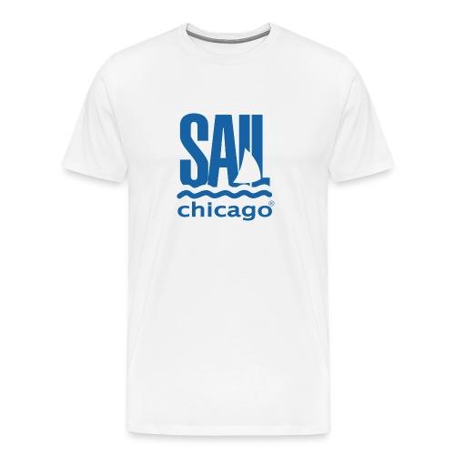 Men's Navy T-Shirt White V2 - Men's Premium T-Shirt