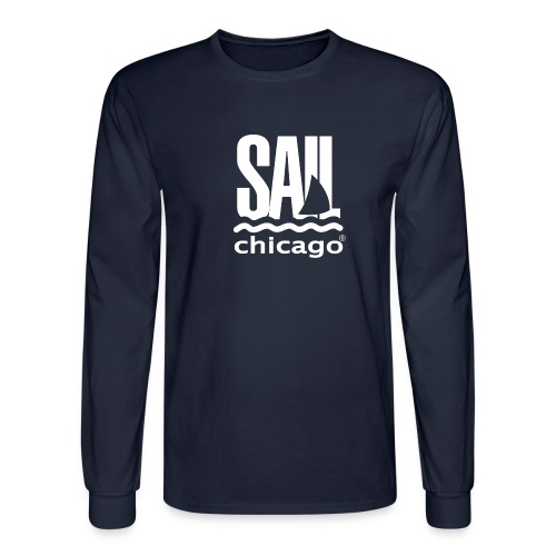 Men's Navy Long sleeve T-shirt v2 - Men's Long Sleeve T-Shirt