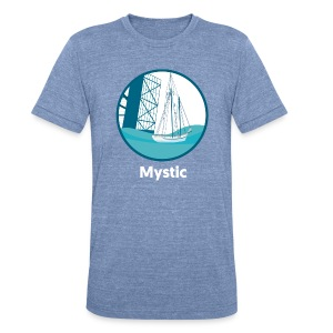Mystic CT Drawbridge Unisex Tri Tee Shirt - Unisex Tri-Blend T-Shirt