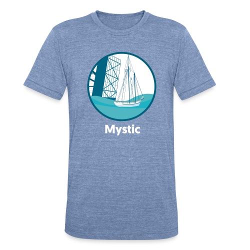 Mystic CT Drawbridge Unisex Tri Tee Shirt - Unisex Tri-Blend T-Shirt