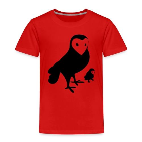 Owl Toddler Tee - Toddler Premium T-Shirt