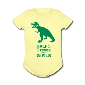 T.Rex   - Short Sleeve Baby Bodysuit