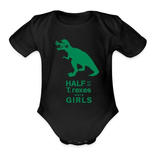 T.Rex   - Organic Short Sleeve Baby Bodysuit