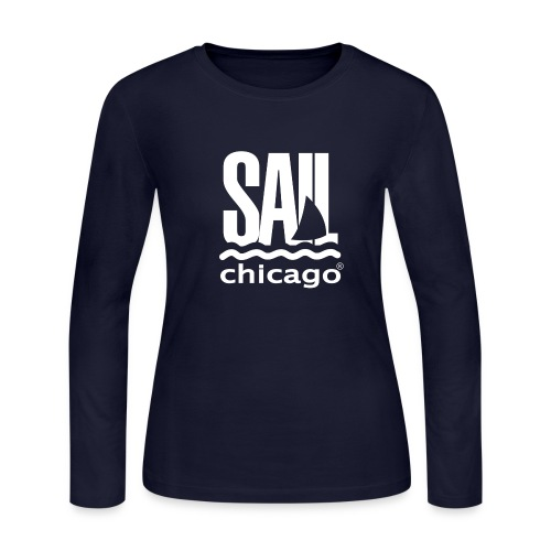Men's Navy Long Sleeve T-shirt  - Women's Long Sleeve Jersey T-Shirt