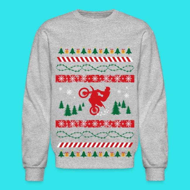 Crewneck Sweatshirt. (169). Ugly Christmas Sweater Dirt Bike ... 297dbda51