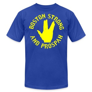 Boston Strong and Prospah - Men's T-Shirt by American Apparel