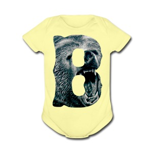 A Big Bruin B - Short Sleeve Baby Bodysuit