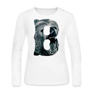 A Big Bruin B - Women's Long Sleeve Jersey T-Shirt