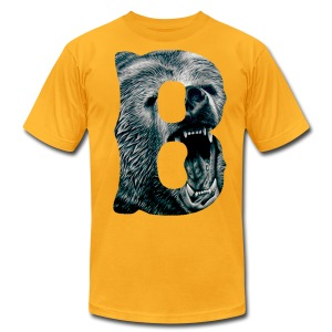 A Big Bruin B - Men's T-Shirt by American Apparel