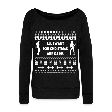 all i want for christmas are gains ugly sweater sweatshirt