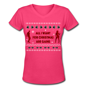 All I Want For Christmas Are Gain Ugly Sweater - Women's V-Neck T-Shirt
