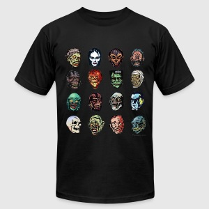 Horror Movie Monster Masks (color) - Men's T-Shirt by American Apparel