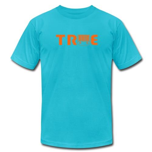 True Skills Classic Orange LogoTee - Men's Fine Jersey T-Shirt