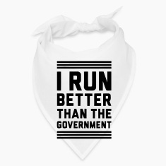 I RUN BETTER THAN THE GOVERNMENT Caps