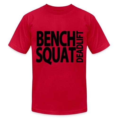 Bench Squat Deadlift T-Shirt - Men's Fine Jersey T-Shirt