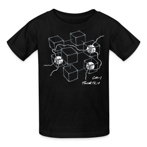 CM-1 Logo kid's black/white - Kids' T-Shirt