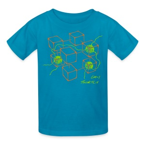 CM-1 Logo kid's turquoise/orange-green - Kids' T-Shirt