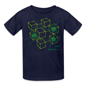 CM-1 Logo kid's navy/green - Kids' T-Shirt