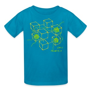 CM-1 Logo kid's turquoise/yellow-green - Kids' T-Shirt
