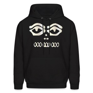 wht blk  see  hoodie - Men's Hoodie