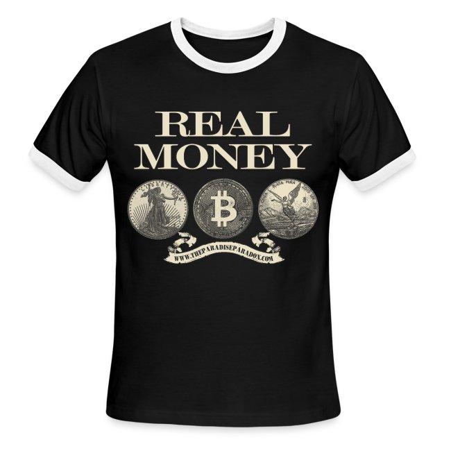 Real Money men's ringer tee