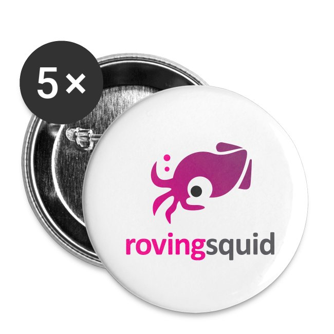 "Roving Squid 1"" Button Pack"