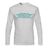 Long Sleeve Shirts ~ Men's Long Sleeve T-Shirt by Next Level ~ Ask Me About My ADHD