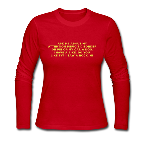 Ask Me about my ADHD Long Sleeve Shirts - Women's Long Sleeve Jersey T-Shirt