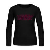 Long Sleeve Shirts ~ Women's Long Sleeve Jersey T-Shirt ~ Ask Me About My ADHD