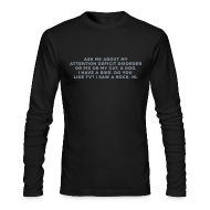 Long Sleeve Shirts ~ Men's Long Sleeve T-Shirt by American Apparel ~ Ask Me About My ADHD