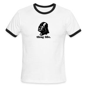 Darth Vader Thug Life - Men's Ringer T-Shirt
