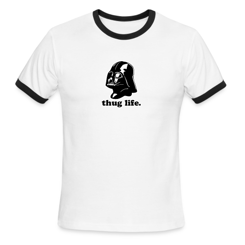 Darth Vader Thug Life - Men's Ringer T-Shirt