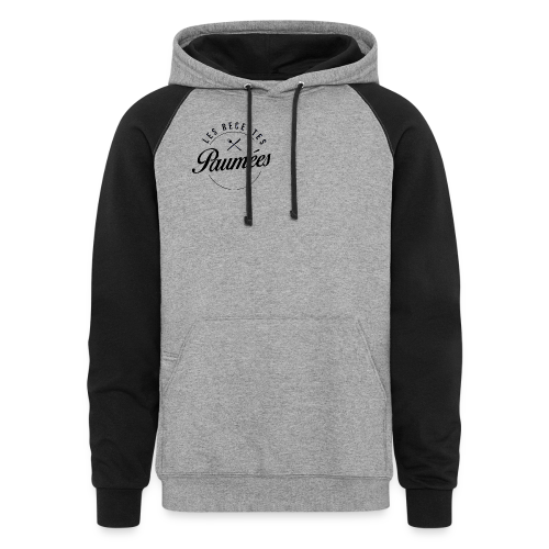 Chandail à capuchon gris logo sur le devant - Homme - Colorblock Hoodie