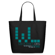 Bags & backpacks ~ Eco-Friendly Cotton Tote ~ WikiLeaks Supporter (incl $29.70 donation)