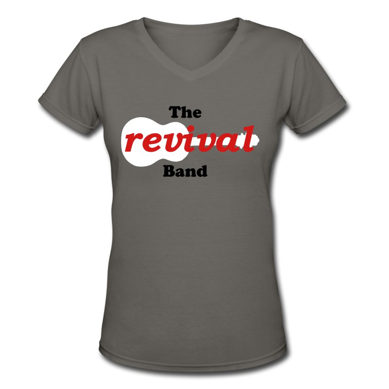 band_logo - Women's V-Neck T-Shirt