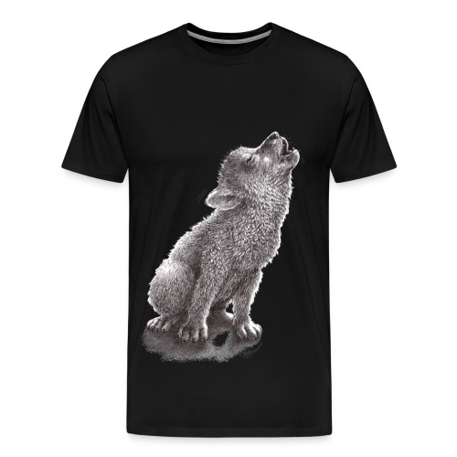 Young Howling Wolf - Men's Premium T-Shirt