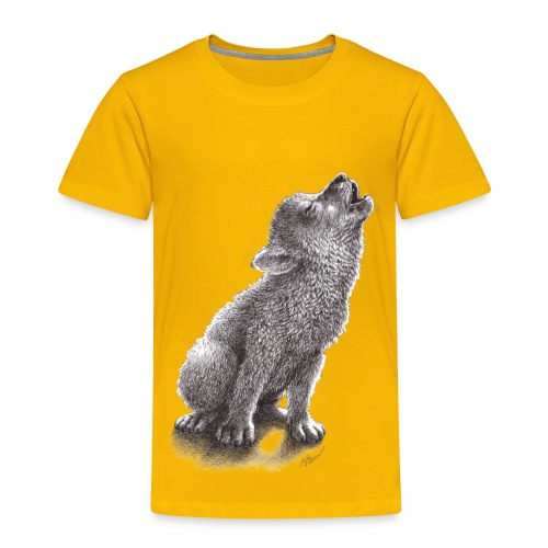 Young Howling Wolf - Toddler Premium T-Shirt