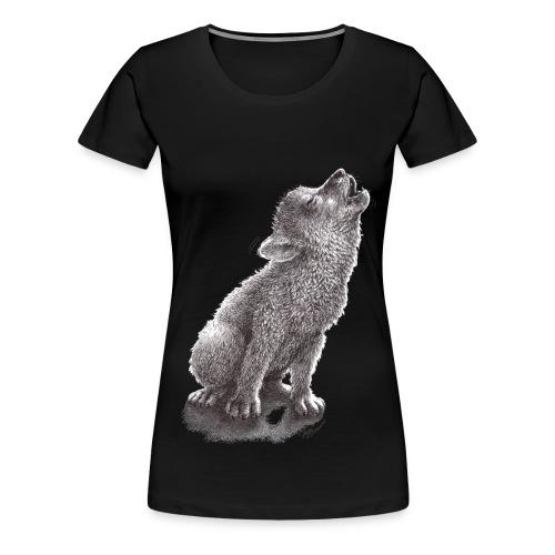 Young Howling Wolf - Women's Premium T-Shirt