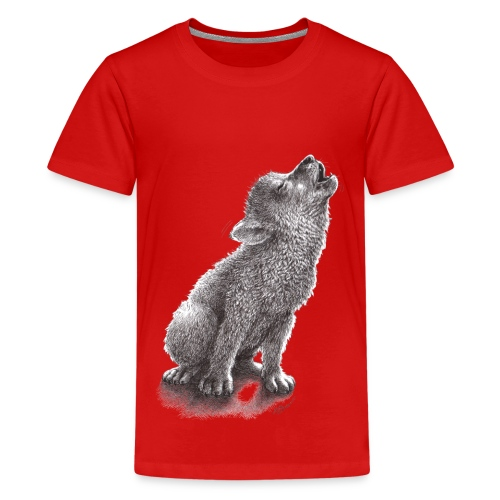 Young Howling Wolf - Kids' Premium T-Shirt