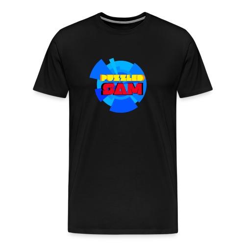 PuzzledSam Premium Men's Logo T-Shirt - Men's Premium T-Shirt