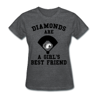 T-Shirts ~ Women's T-Shirt ~ Diamonds Are A Girl's Best Friend