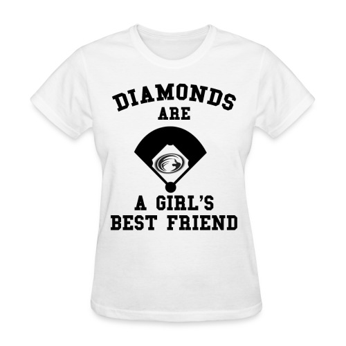 Diamonds Are A Girl's Best Friend - Women's T-Shirt