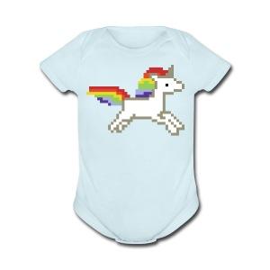 Unicorn Baby Bodysuit - Short Sleeve Baby Bodysuit
