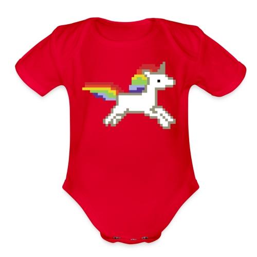 Unicorn Baby Bodysuit - Organic Short Sleeve Baby Bodysuit