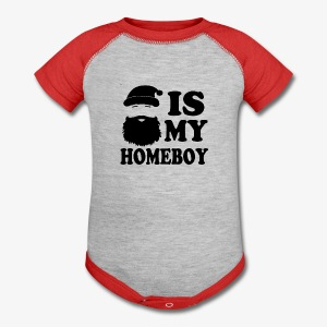 Santa is my homeboy funny - Baby Contrast One Piece