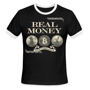 Real Money men's ringer tee half border - Men's Ringer T-Shirt