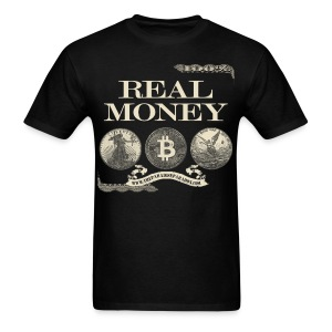 Real Money men's tee half border - Men's T-Shirt