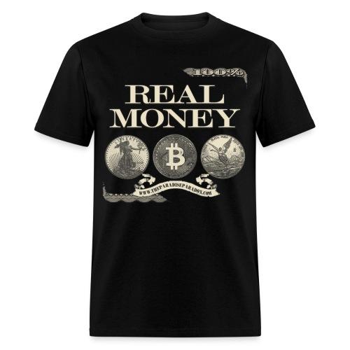 Real Money men's tee half border - Men's T-Shirt